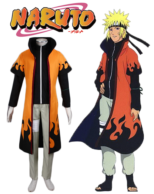 Free Shipping Naruto Uzumaki Sixth Hokage Uniform Anime Cosplay Costume