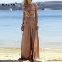 Bikini Cover Up Side Slit Deep V-neck Pareo Beach Ups Swimwear Women Tunic Bathing Suit Coverup Summer Swimsuit xxl