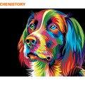 Набор для рисования по номерам собак CHENISTORY  набор для рисования по номерам  Акриловая Краска на холсте  ручная живопись маслом для домашнего...