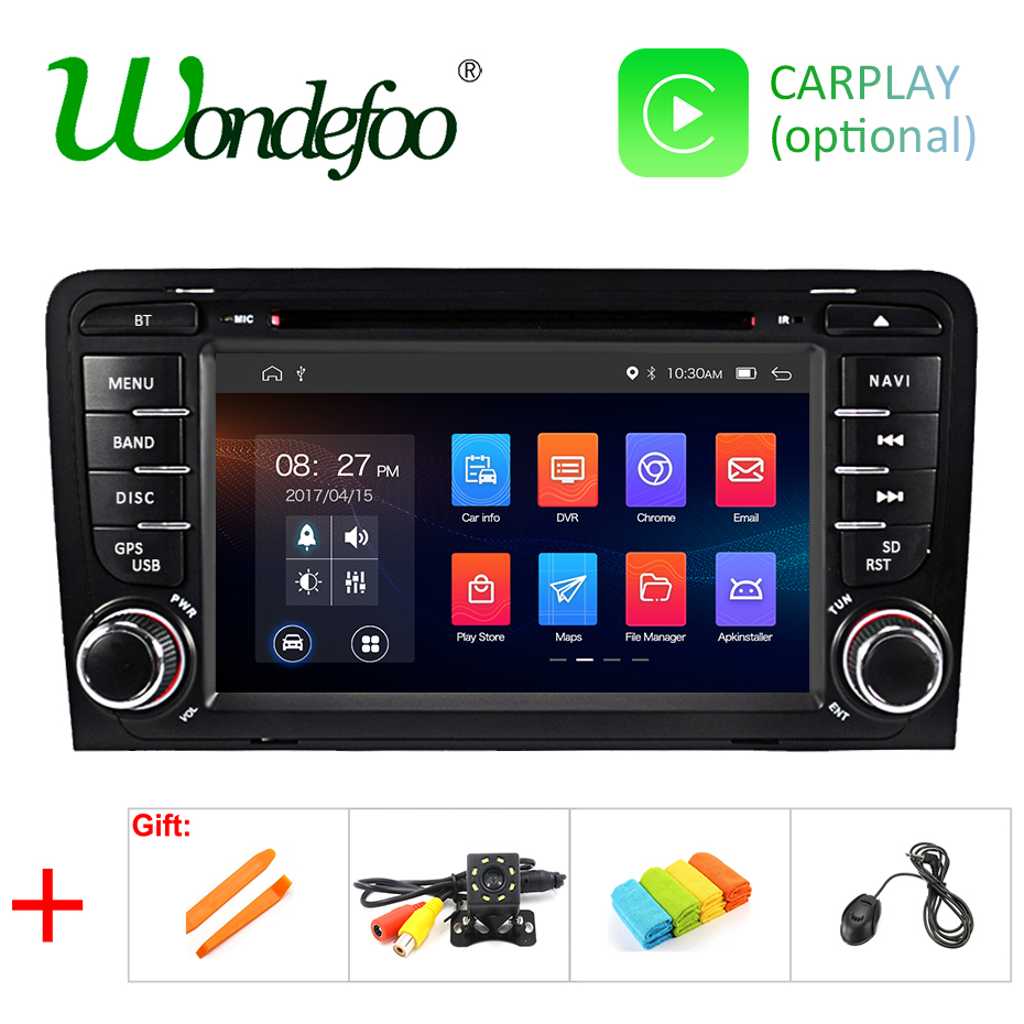 IPS SCREEN 2G Android 9.0 2 din Car Multimedia Player For Audi A3 S3 GPS radio stereo navigation AUDIO tape recorder BT 4.0 USB