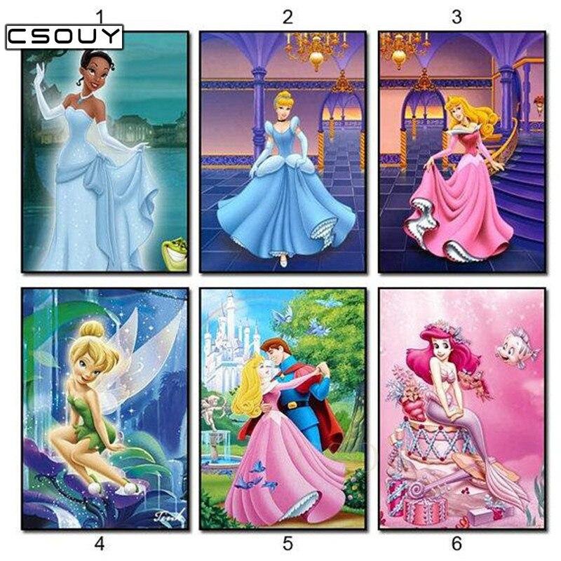 Diy Diamond Hímzés Gyönyörű hercegnő és herceg Gyémánt - Művészet, kézművesség és varrás