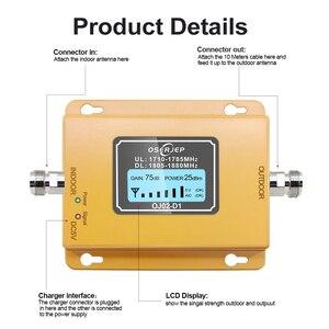 Image 2 - Gsm Lte 1800 Booster affichage LCD 70dB Gain 2g 4g LTE Booster de téléphone portable DCS 1800 MHz ninclut pas dantenne