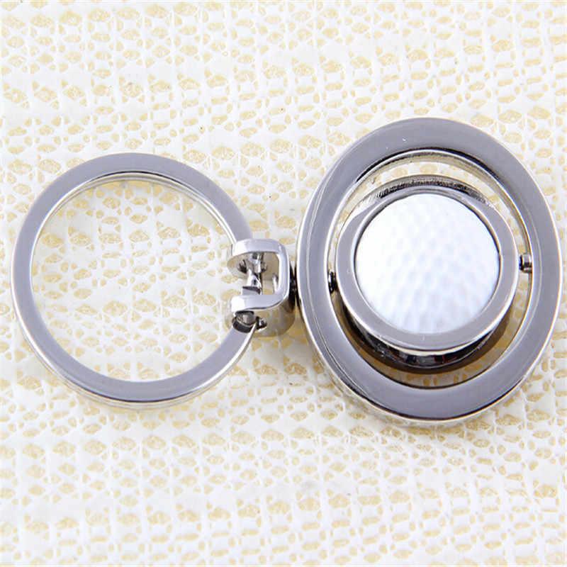 Nova Chegada Prata Banhado Golfe Masculino Novidade Bugiganga Pôquer Keychain Liga Chaveiro Chave Do Carro Anel Presentes Engraçados AM0688
