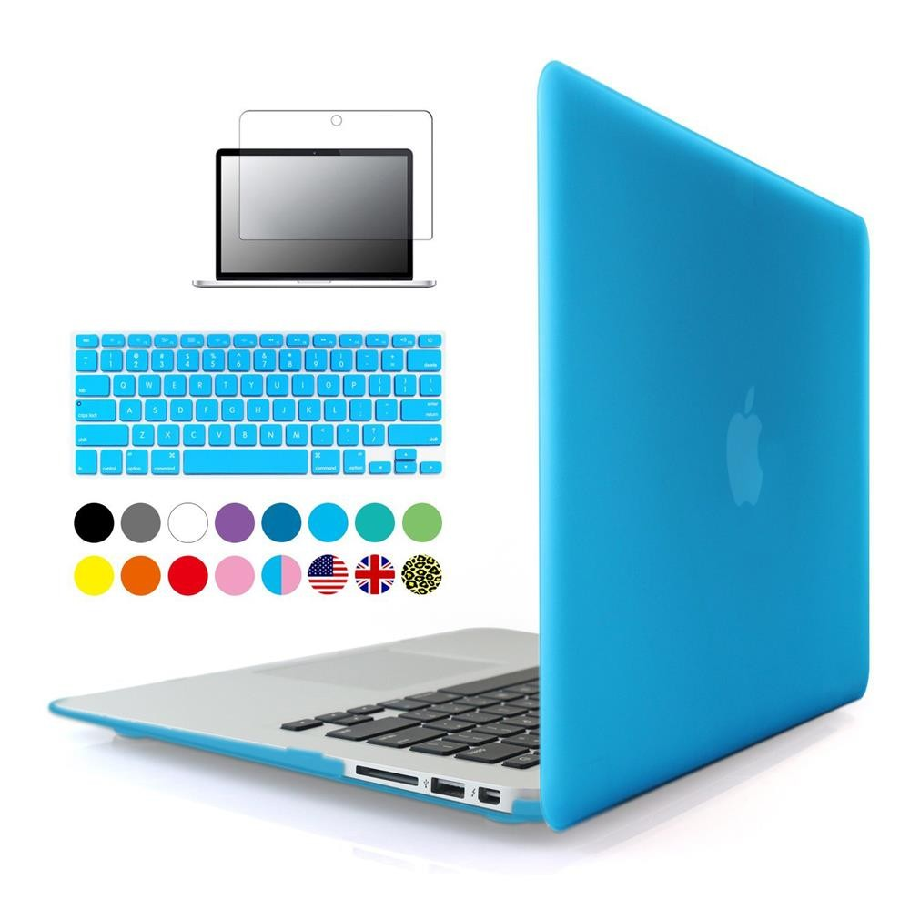 3 in 1 Matte Hard laptop Case For Apple macbook Air Pro Retina 11 12 13 15 inch Protector For Mac book 11.6 13.3 15.4 Touchbar