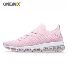 ONEMIX sports shoes women pink running sneakers outdoor jogging shose air cushion for walking