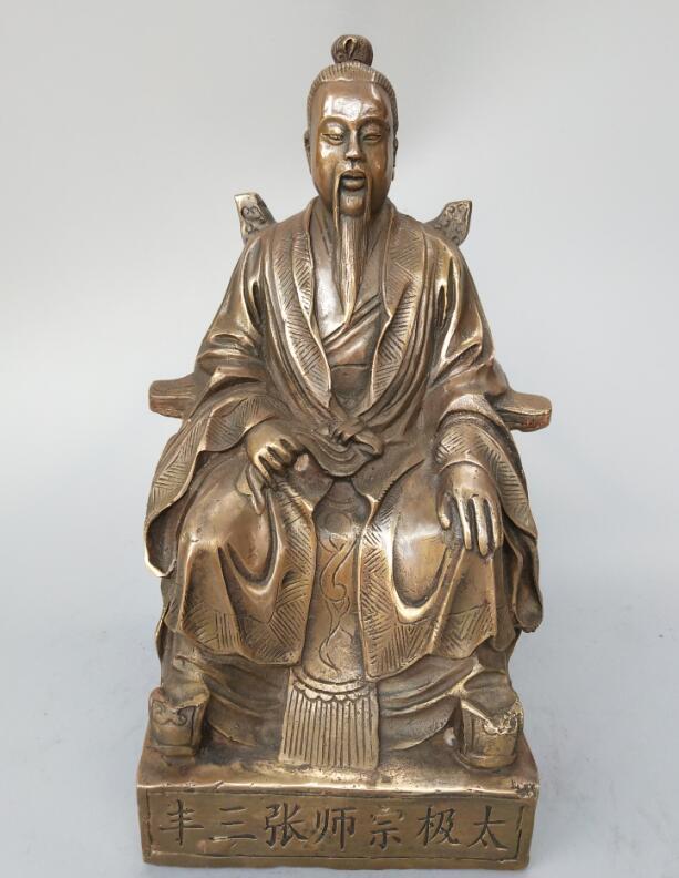 Original Brass Zhang San Feng Statue