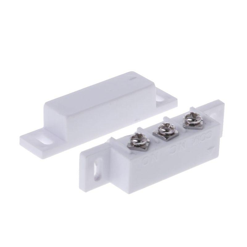 NC NO Magnetic Contact Switch Door Sensor Wired Metal Roller Shutter Door Home Alarm System