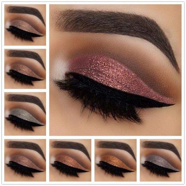 Pudaier ojos brillo sombra líquido maquillaje pigmento resistente al agua oro melocotón Color rosa brillo sombra de ojos diamante Festival maquillaje
