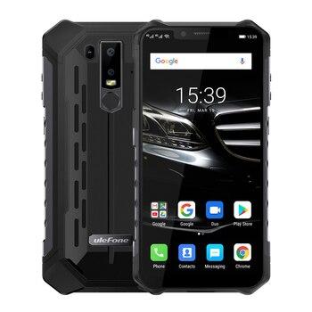 Перейти на Алиэкспресс и купить Ulefone Armor 6E мобильный телефон IP69K Водонепроницаемый Android 8,1 6,2 дюйма FHD + Helio P7O Восьмиядерный 4 Гб + 64 Гб беспроводной зарядный смартфон NFC