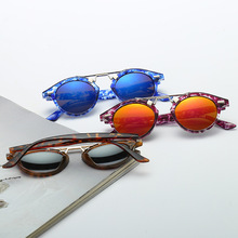 Trend Sunshade Mirror Men And Women General Purpose Fund Sunglasses Colorful Metal Package Flower