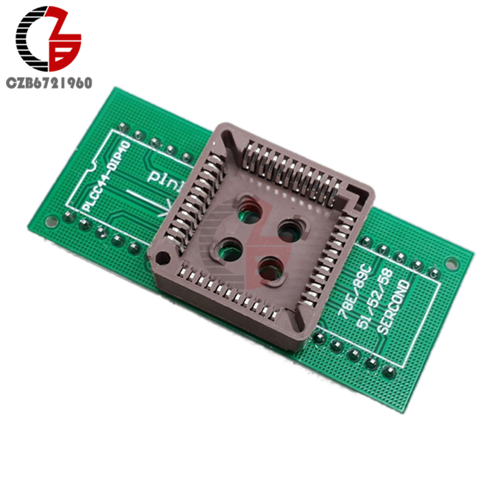 PLCC44 To DIP40 EZ <font><b>USB</b></font> Universal Programmer IC Adapter Tester Socket for TL866CS <font><b>TL866A</b></font> EZP2010 G540 SP300 image