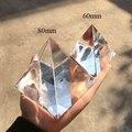 8CM K9 AAA szkło kryształowe piramida przycisk do papieru z kamienia naturalnego i 3.1 cala minerały kryształy figurka Fengshui na dekoracje do domowego biura w Figurki i miniatury od Dom i ogród na