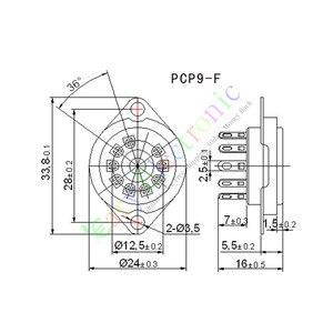 Image 4 - Wholesale and retail 4pc 9Pin Gold Vacuum TUBE SOCKET SAVER MOUNT FR 12AX7 12AU7 ECC82 ECC83 radio free shipping