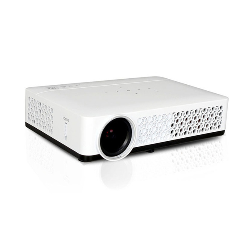 Htp mini portable projector 800w support 3d dlp android 4 for Top rated pocket projectors