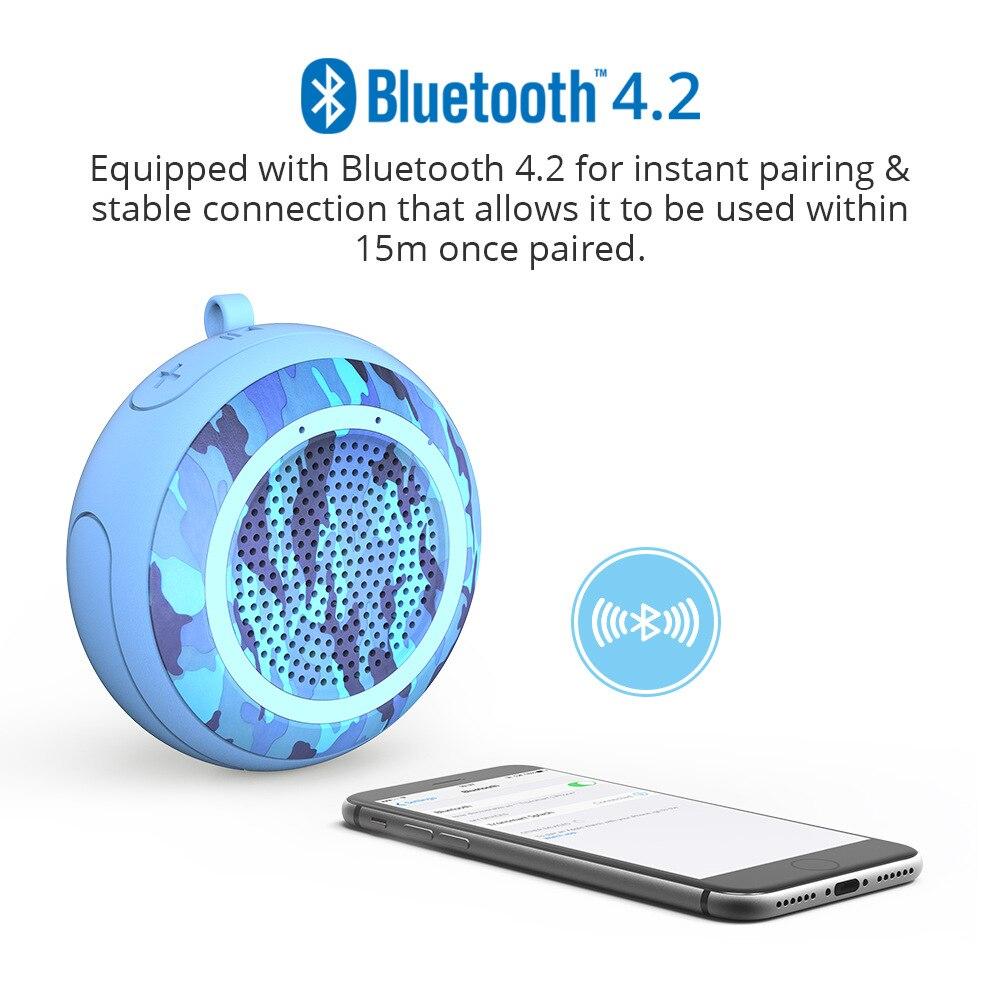 Swimming Pool Floating Speaker Stereo 5W Deep Bass Bluetooth Wireless Waterproof Portable Outdoor Sports Waterproof Subwoofer