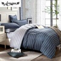 100% Cotton duvet/quilt cover set,5pc/4pc fashion Stripes boys bedding set twin double queen king size,flat sheet/mattress cover