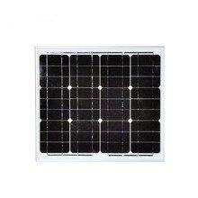 waterproof cheap solar panels china 12v 30w 2pcs/lot  panneau solaire 18v 60w photovoltaic panel monocrystalline solar celll
