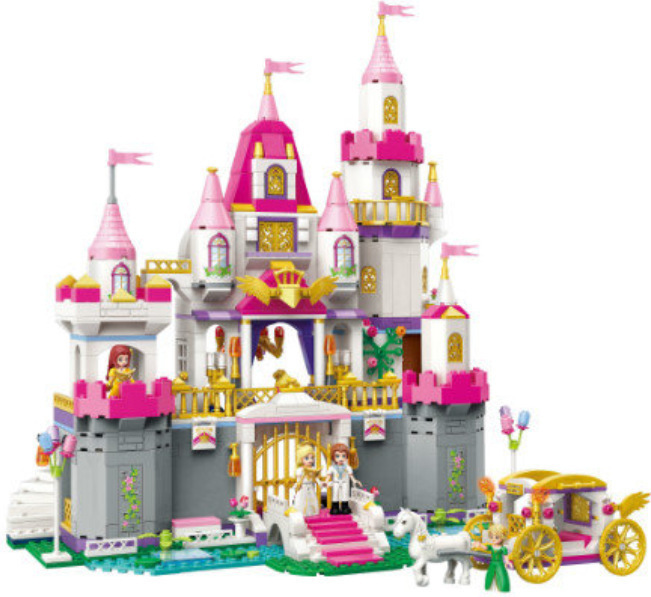 Enlighten 2612 938pcs Girls Friends Princess Leah Angel Castle Celebration Building Block Bricks Toy Compatible with Legoe