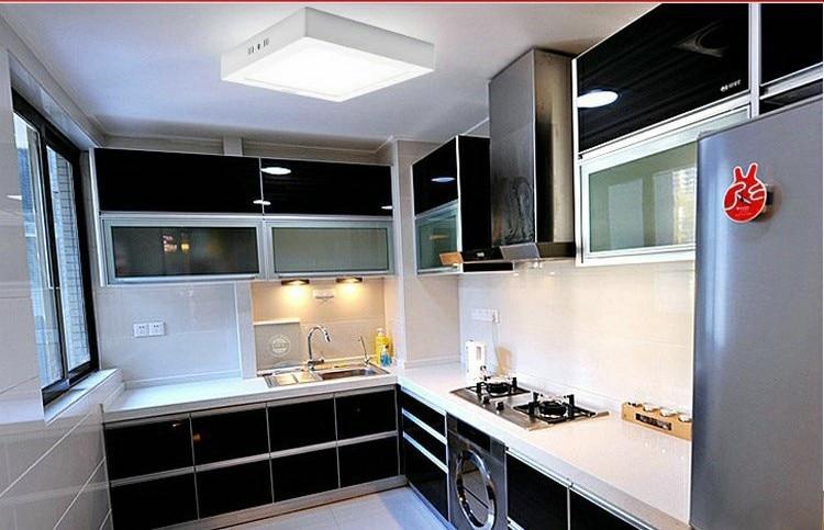 Doprava zdarma 12W LED Stropní svítidlo Stropní svítidlo AC85V-265V Kuchyňské světlo Typ čtverce Povrchová montáž SMD2835