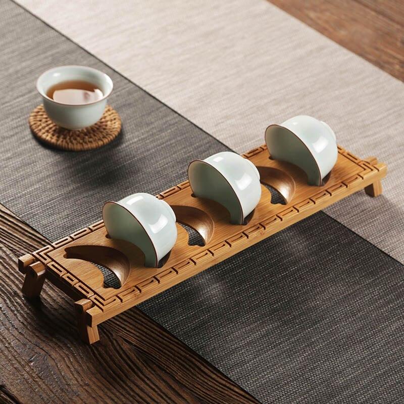 Shelf Wooden Tray Kitchen Tea Cup