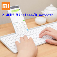 Xiaomi Miiiw Keyboard Bluetooth Dual Mode 104 Circular Typewriter Keys 2.4GHz Wireless / V4.0 Portable Keyboards