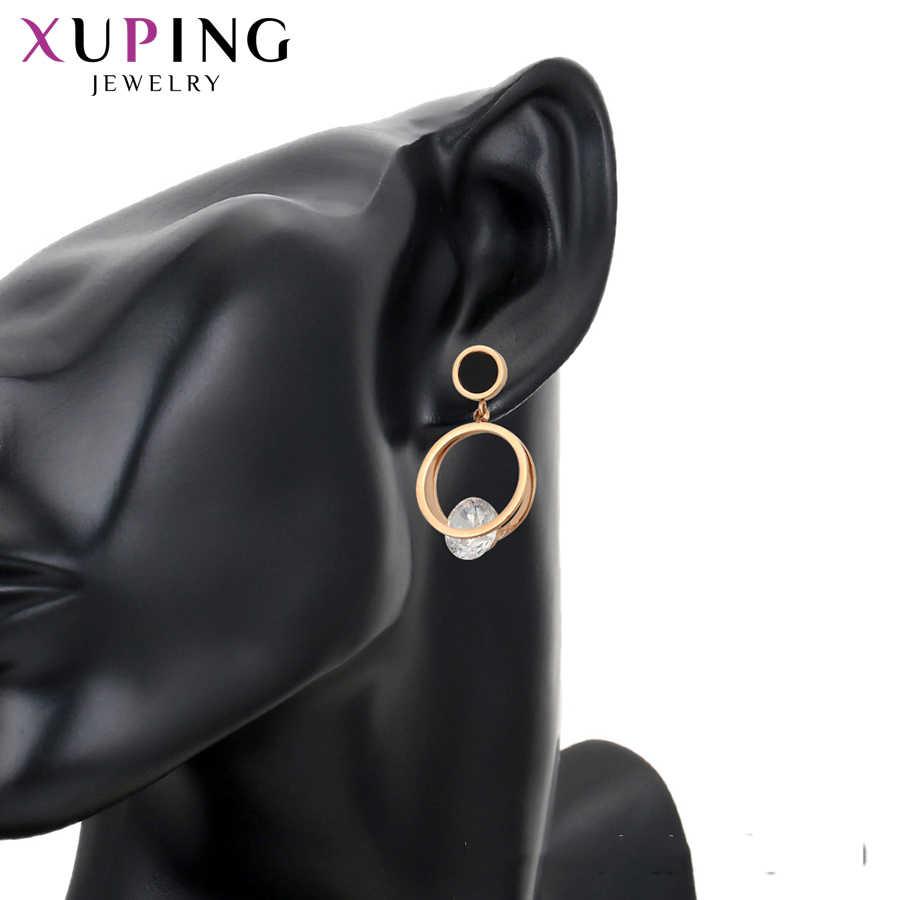 Xuping mode boucles d'oreilles caractère Sexy dames couleur or Rose plaqué pour les femmes famille cadeau S137.3-98416