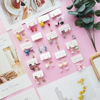 Korean Dangle Drop Earrings Kawaii Little Animal Women Cartoon Cute Asymmetric Female Fashion Jewelry Accessories Wholesale