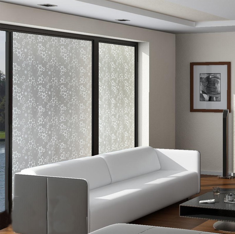 Superb Snow Design 45x400cm White Living Room Sliding Door Glass Decorative  Frosted Glass Sticker(China)
