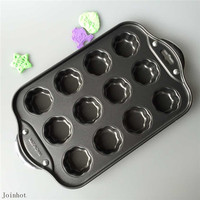 Ferro antiaderente 12 mini cheesecake/flower forma muffin pan quiche cupcake tarts mold bakeware