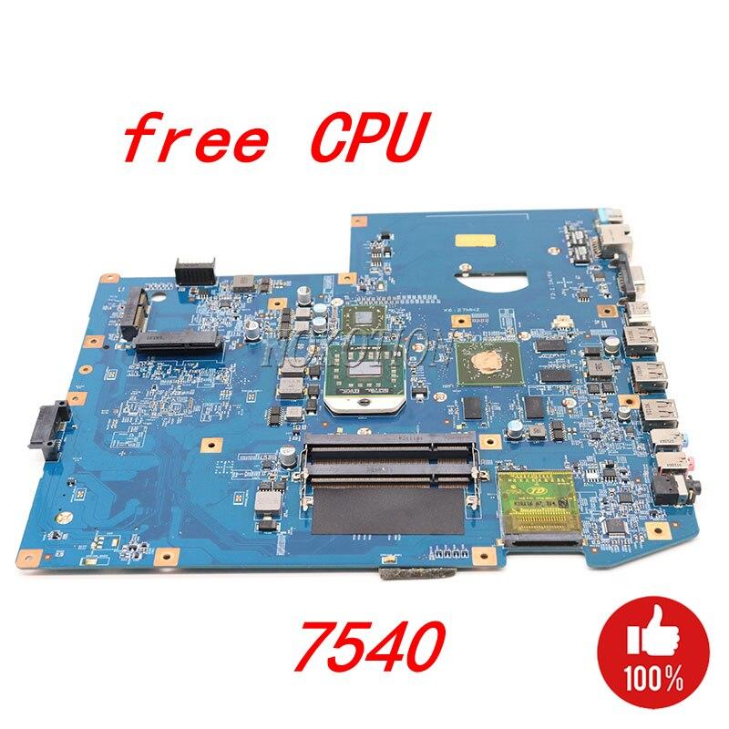 NOKOTION MBPPQ01001 MB. PPQ01.001 Laptop Motherboard Para Acer aspire 7540 MB 48.4FP03.01M JV71-TR8 DDR2 Placa Principal da cpu Livre