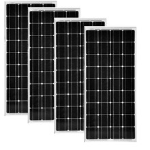 4 PCs Pannello Solare 12v 100w Solar System 400w Carregador Motorhome Car Caravan Camp Battery Phone Light