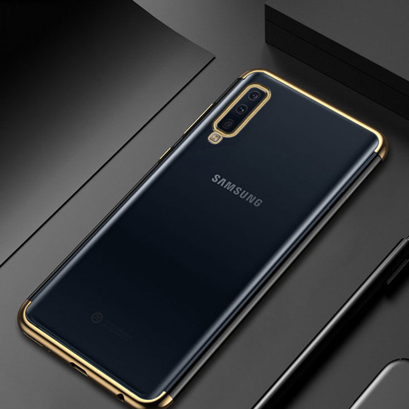 Plating Soft TPU Cases For Samsung Galaxy S8 S9 S10 Plus S6 S7 Edge A6 A8 Plus A7 A9 2018 A5 2016 2017 Ultra Thin Cover Case