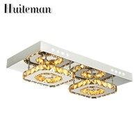 Huiteman Led Crystal Modern Ceiling Light For Dining Room Foyer Luxury Decorative Lamp Fixtures 90 260V