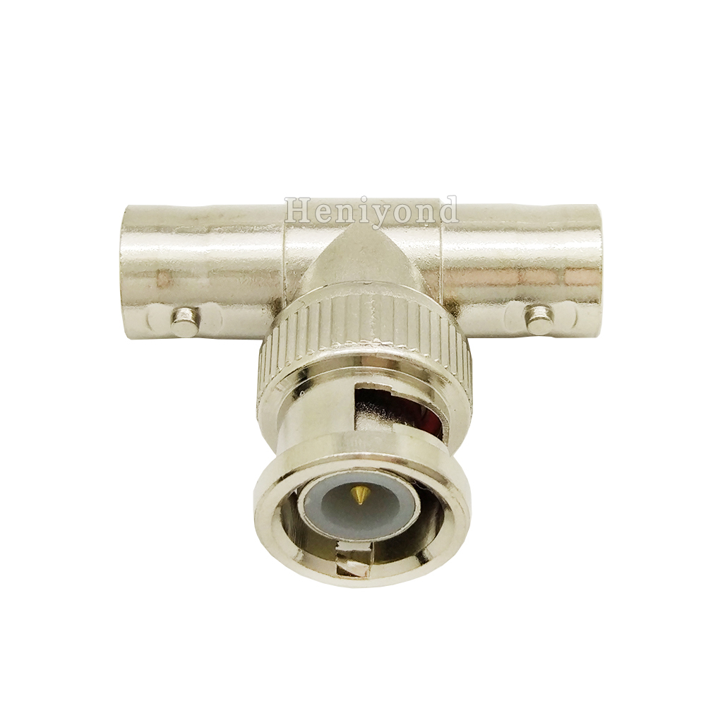 10Pcs BNC T Adapter Splitter Connector Coupler 1 Male To 2 Female CCTV Jack Plug For CCTV Camera System
