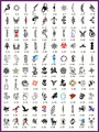 New Self-Adhesive Temporary Airbrush Tattoo Stencil Template Booklet 2 with 100 designs - Free shipping