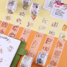 3cm*7M Crazy Animal City washi tape DIY scrapbooking planner masking tape adhesive tape kawaii label sticker stationery 15mm 7m creative colorful memory scenery succulent plants washi tape adhesive tape diy scrapbooking sticker label masking tape