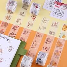3cm*7M Crazy Animal City washi tape DIY scrapbooking planner masking tape adhesive tape kawaii label sticker stationery недорого