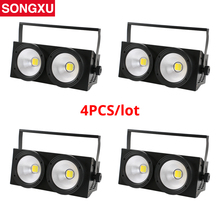 4 pcs a lot 200w COB Blinder Light  Eyes Stage Led Audience Light for Stage TV Studio Church Party/SX COB200