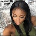 7A Glueless Cheia Do Laço Perucas de Cabelo Humano Para As Mulheres Negras ondulado Parte Dianteira Do Laço Do Cabelo Humano Perucas Brasileira Virgem Do Laço Do Cabelo peruca