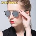 2017 Real Polarizadas gafas de Sol de Metal de Las Mujeres O de Los Hombres Diseñador de la Marca Original D Círculo Estilo UV400 Gafas de Sol de Moda de Verano Femenino