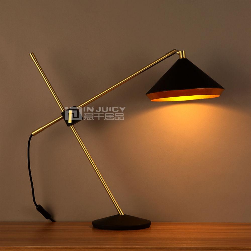 Industrial Coffee Table Lamp: Retro Vintage E27 LED Iron Adjustable Edison Desk Lamp
