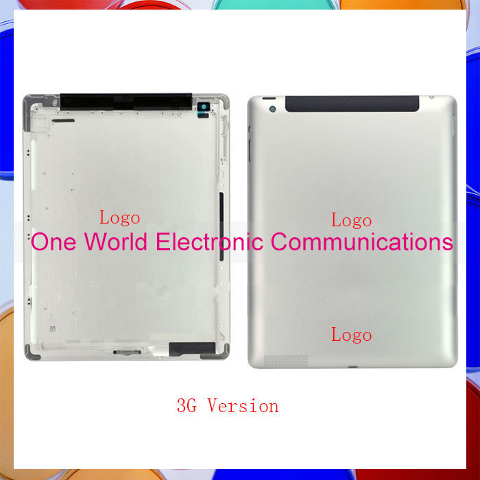 5Pcs/lot For Ipad 2 ipad 3 ipad 4 Back Rear Housing Cover Battery Door with Logo Wifi Or 3G Version 16GB 32GB 64GB DHL EMS