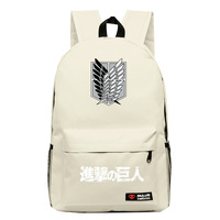 2016 Attack On Titan Cosplay Anime Backpack Candy Color Leisure Backpacks For Teenagers Mochila Unisex