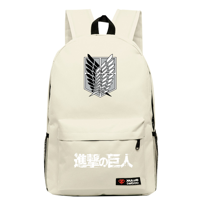 2017new Attack on Titan Cosplay Anime Backpack Candy Color Leisure Backpacks for teenagers mochila Unisex for Teenage Girls boys аксессуары для косплея cosplay