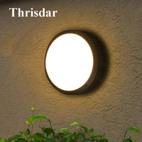 Thrisdar 6W 12W 18W 24W Waterproof LED Wall Lamp Outdoor Garden Porch Wall Light Aluminum Aisle Balcony Ceiling Wall Light