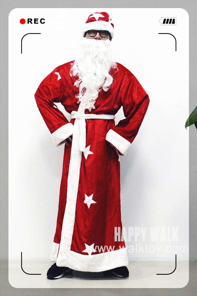 Russia Christmas Santa Claus Costume Cosplay Santa Claus Clothes Fancy Dress In Christmas High Quality Costume Suit For Adults hooded santa claus costume