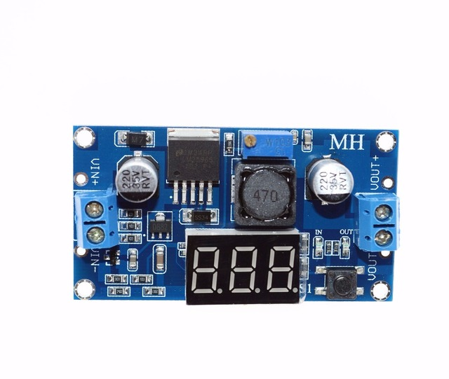 1PCS LM2596 LM2596S power module DC-DC adjustable step-down power supply module with digital display