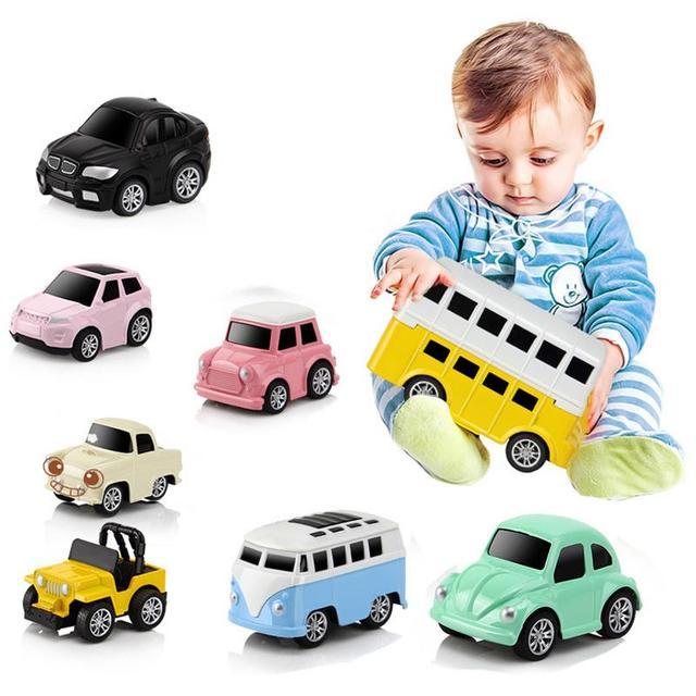 8pcs Set Kids Vehicle Car Toys Baby Toys Car Jeep Bus Model For