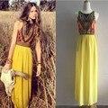 Mulheres Sexy verão Boho longo Maxi Evening vestido de festa vestidos de praia Gypsy vestido de verão