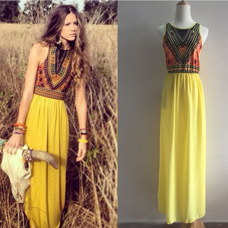545af839ebd7f US $25.82 |Sexy Women Summer Boho Long Maxi Evening Party Dress Beach  Dresses Gypsy Sundress-in Dresses from Women's Clothing on Aliexpress.com |  ...